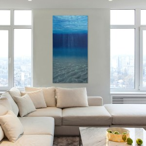 Large Underwater Oil Painting