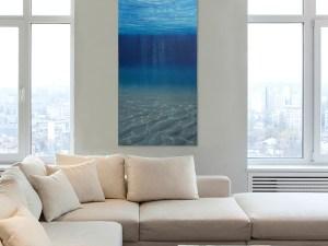 Large Underwater Oil Painting