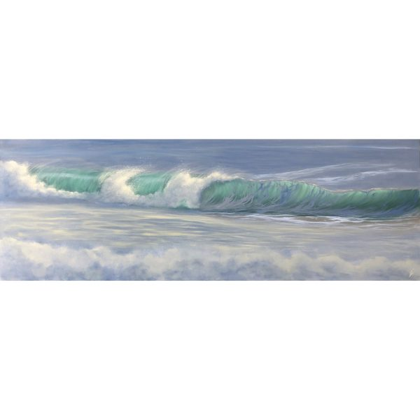 The Perfect Moment - original oil painting of ocean waves