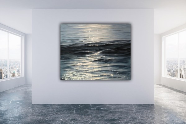 Large original ocean wave painting