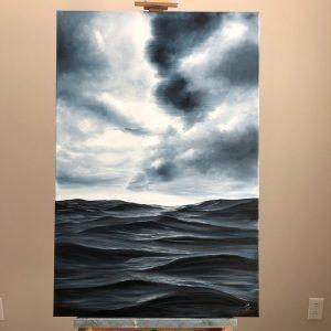 Original ocean storm painting