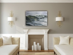 Realistic ocean wave painting - Molten Metal