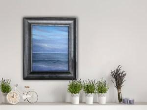 Moon Rise - original framed oil painting