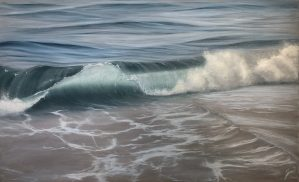 Crescent Tide - large original ocean wave painting