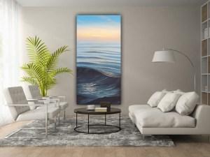 """Original sunrise over the ocean painting """"In Gratitude"""""""