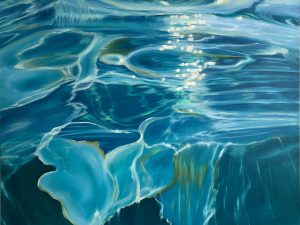 """Original Crystal Clear water painting """"Water Spell"""""""