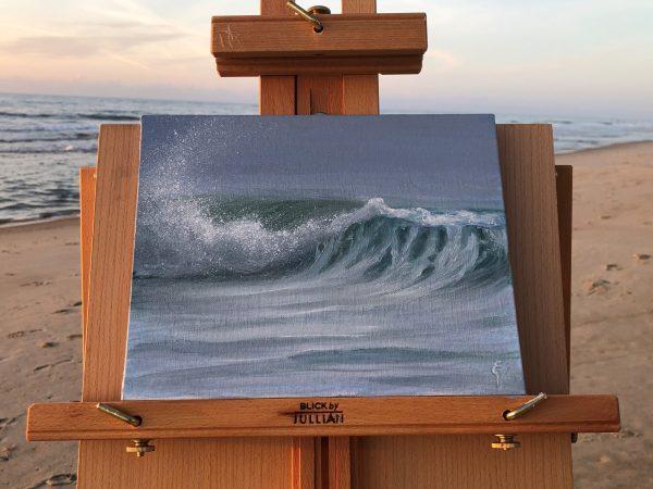 Morning Breaker - plein air seascape painting
