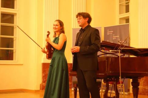 Eva Zavaro avec Miroslav Sekera à Prague
