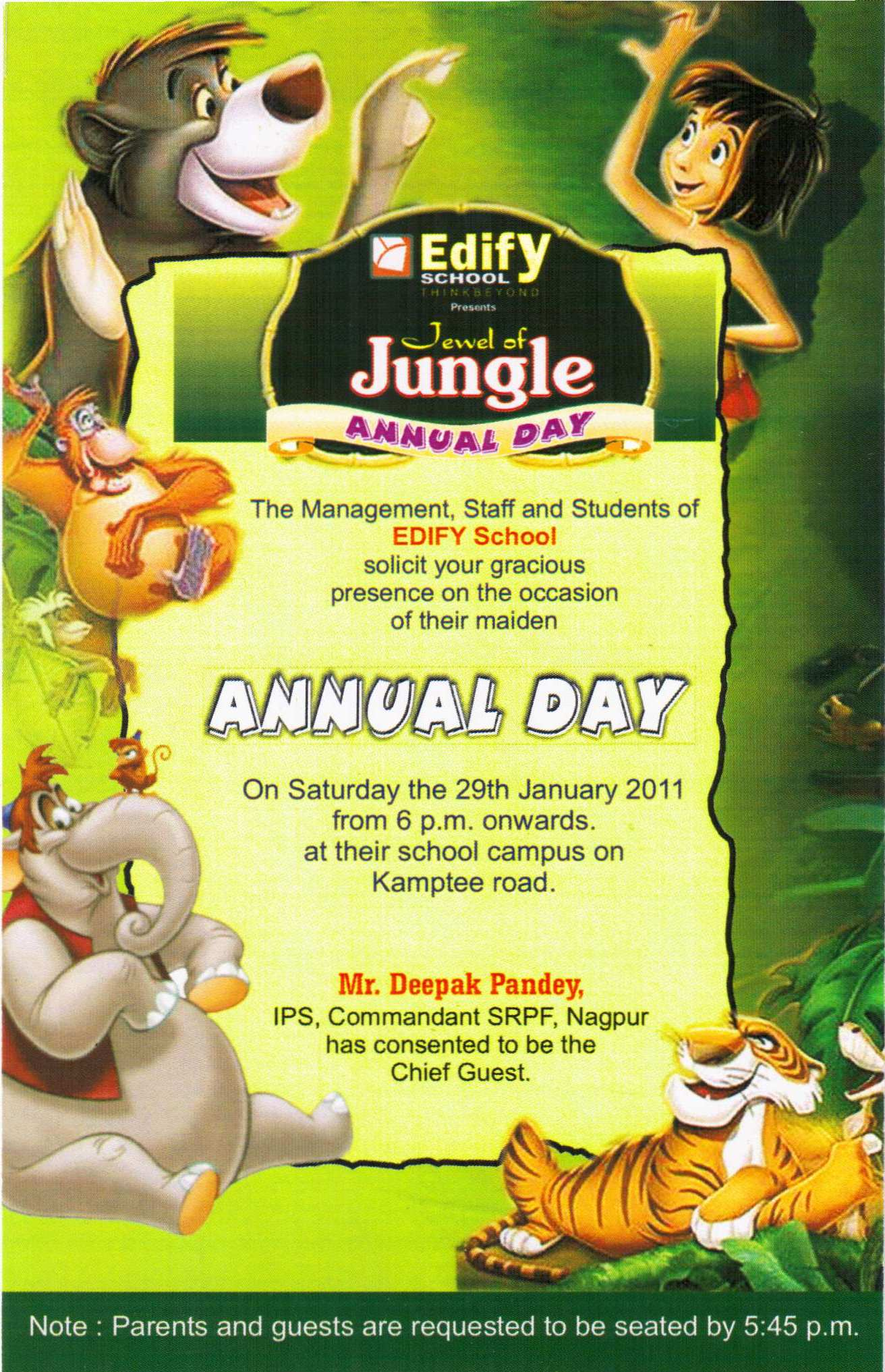 Sample Invitation For Annual Function