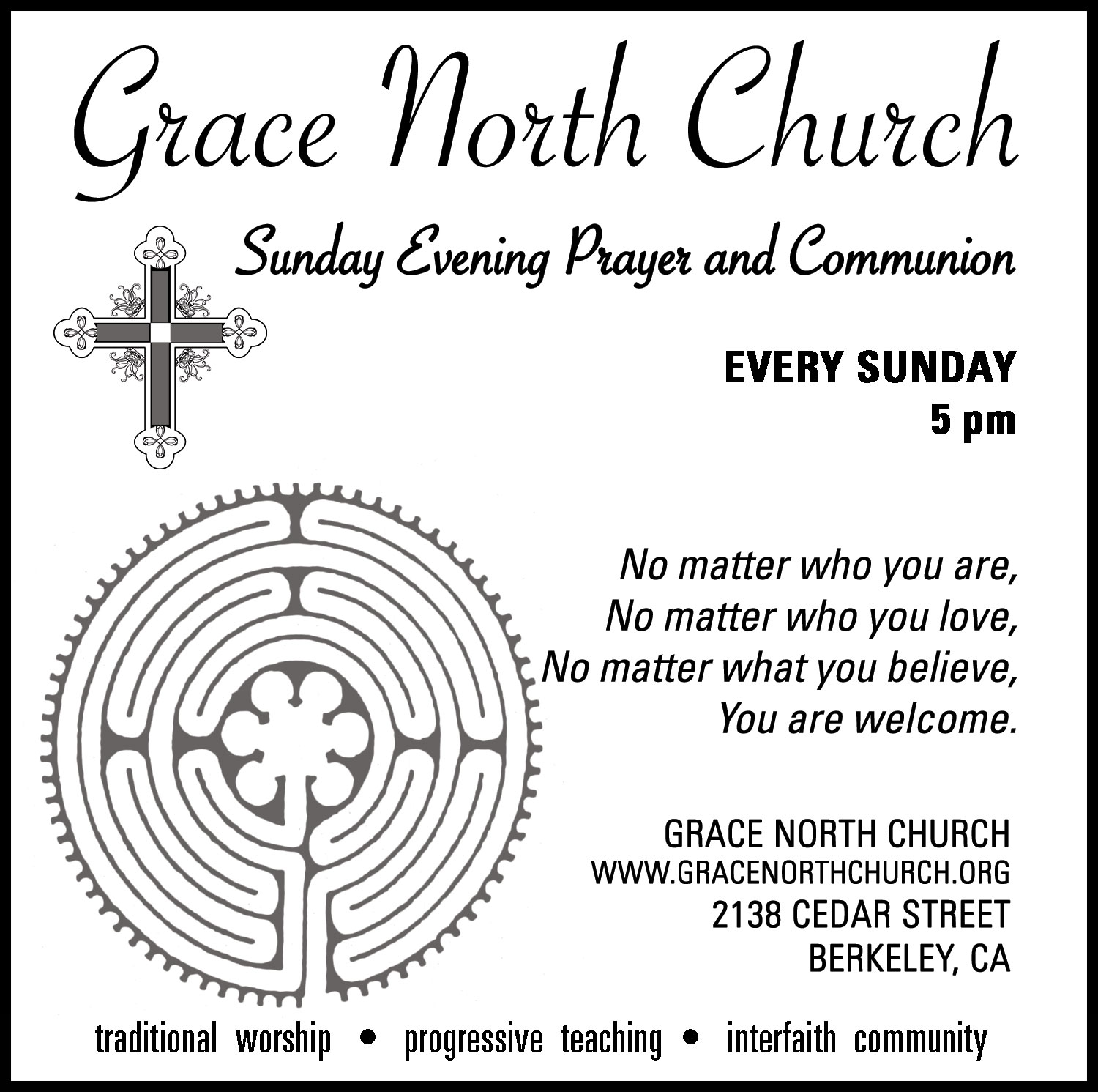 Sunday Evening Prayer and Communion at Grace North Church
