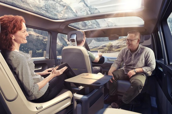 VW electric van interior