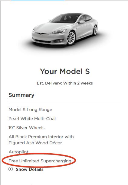 Tesla Free Supercharging 2019 Model S
