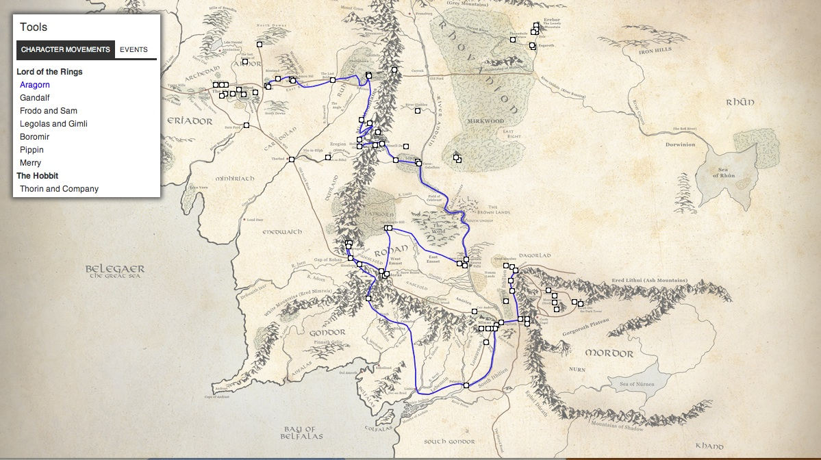 Interactive Map Middle Earth