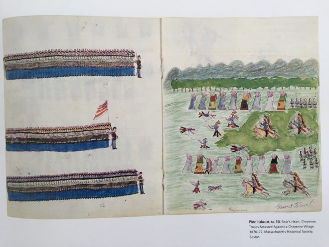 Bear's Heart Troops Amassed Against a Cheyenne Village (1876-77)