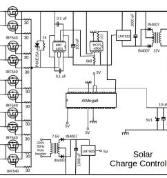 the circuit diagram of the solar panel system charge controller is shown in the figure  [ 1058 x 794 Pixel ]