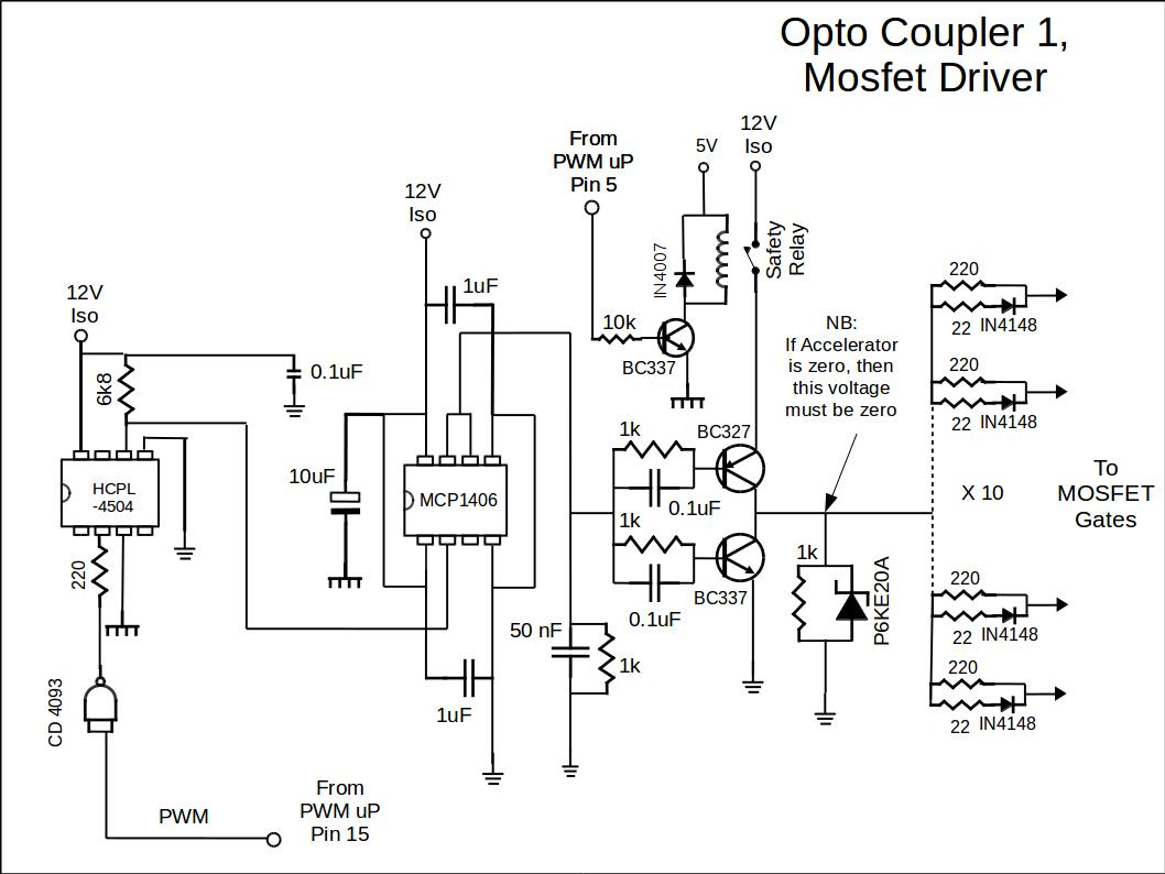 Basic Controller Opto Coupler And Driver Circuit
