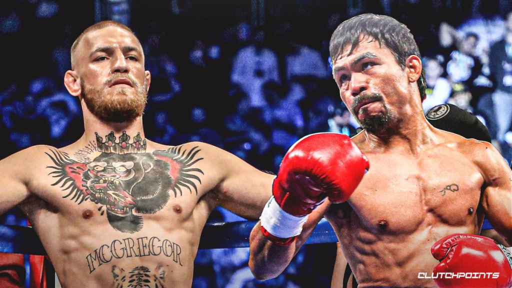 Conor McGregor & Manny Pacquiao (Photo By Clutchpoints)