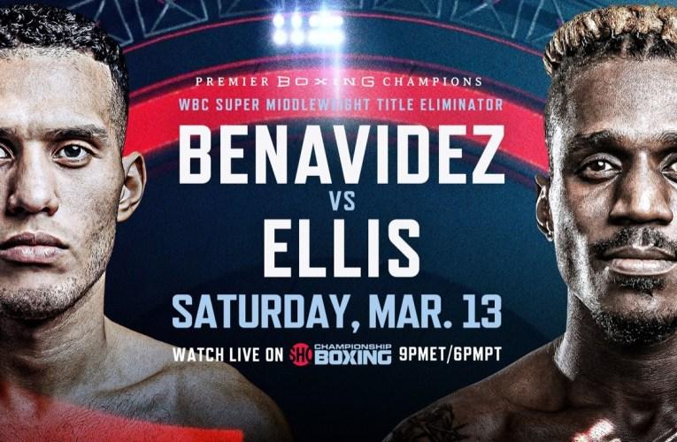 David Benavidez vs Ronald Ellis en eliminatoria mundialista