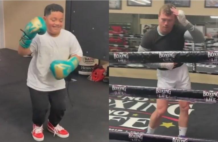 Canelo Álvarez en duelo de salsa contra el hijo de Andy Ruíz