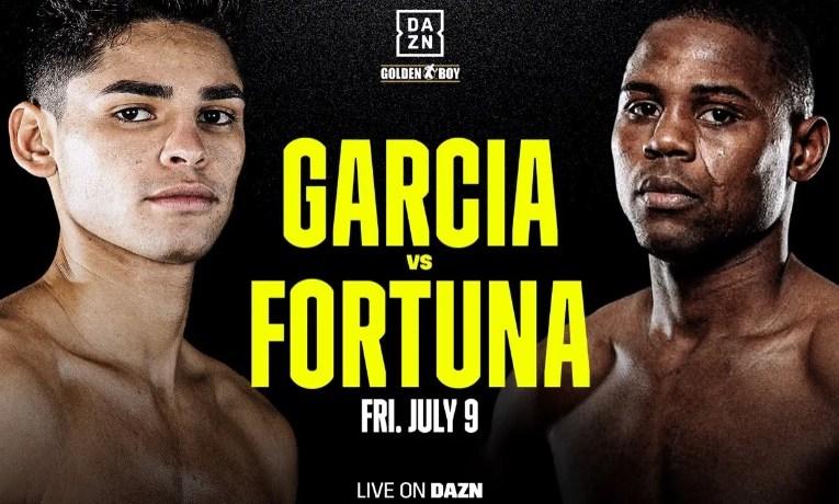 Ryan García vs Javier Fortuna el próximo 9 de julio