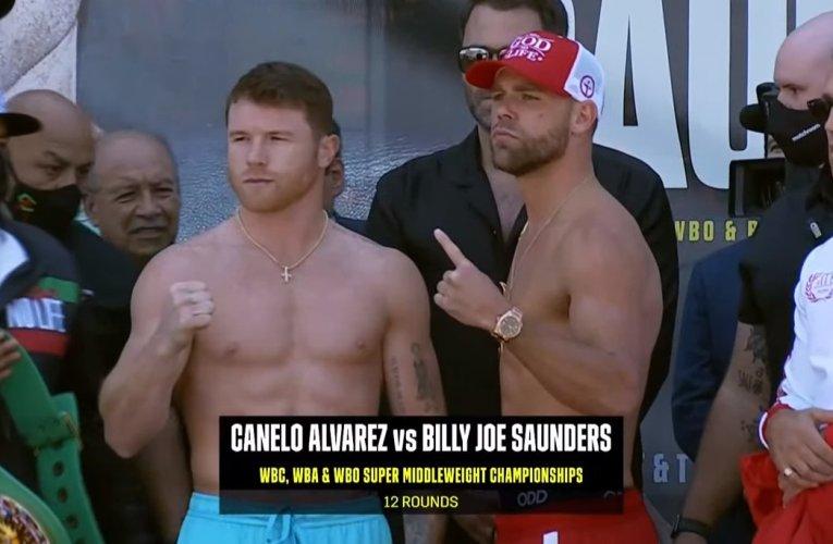 Canelo Álvarez y Billy Joe Saunders en peso y listos para mañana