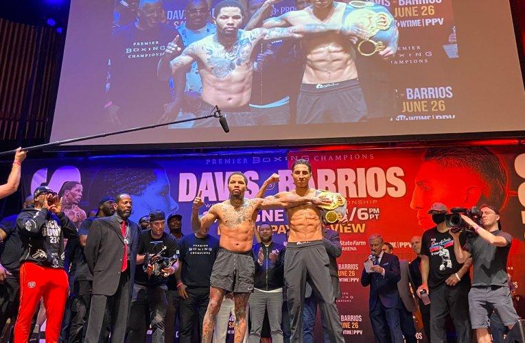 Gervonta Davis y Mario Barrios cumplen con el peso para mañana