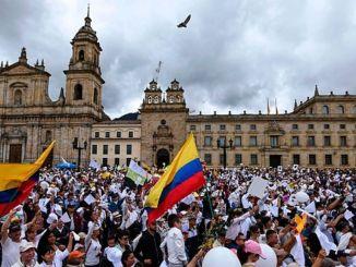 Kolombiya hükümet karşıtı protesto