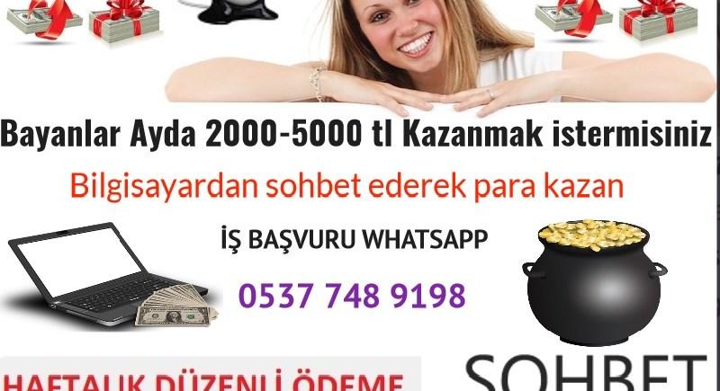 EK İŞ EK GELİR GÖRÜNTÜLÜ SOHBET İŞ İLANLARI,Bayanlar Ayda 2000-5000 tl Kazanmak istermisiniz