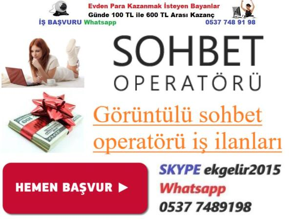 PARA KAZANMAK İSTEYEN BAYANLAR SOHBET SAATİ 30 TL