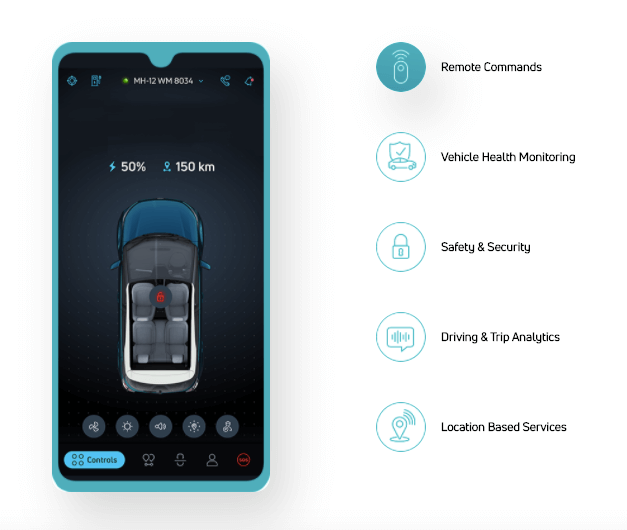 TATA Nexon Electric Smartphone Connectivity Feature