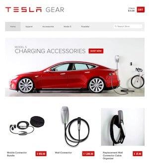 TESLA Online Shop E-Commerce