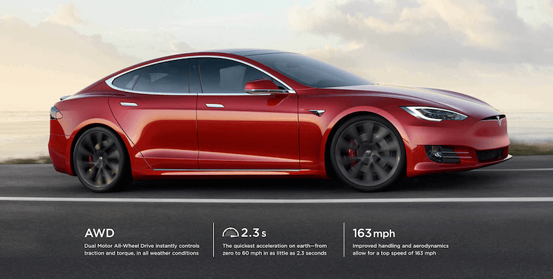 TESLA MODEL S in Top 8 Electric Cars