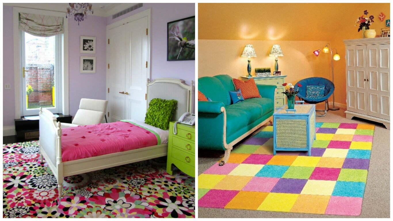 ocuk Odalar in Renkli Kilim Tasarmlar  Ev Dzenleme
