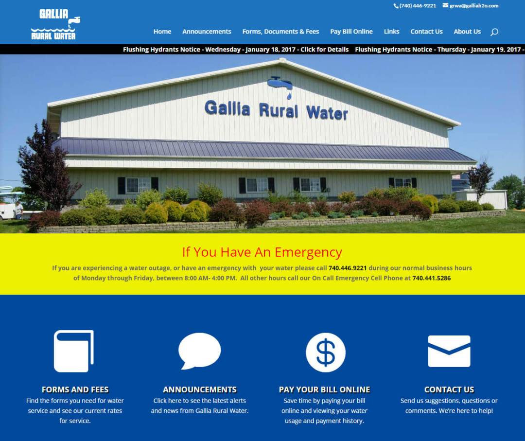 Gallia County Rural Water Association Incorporated