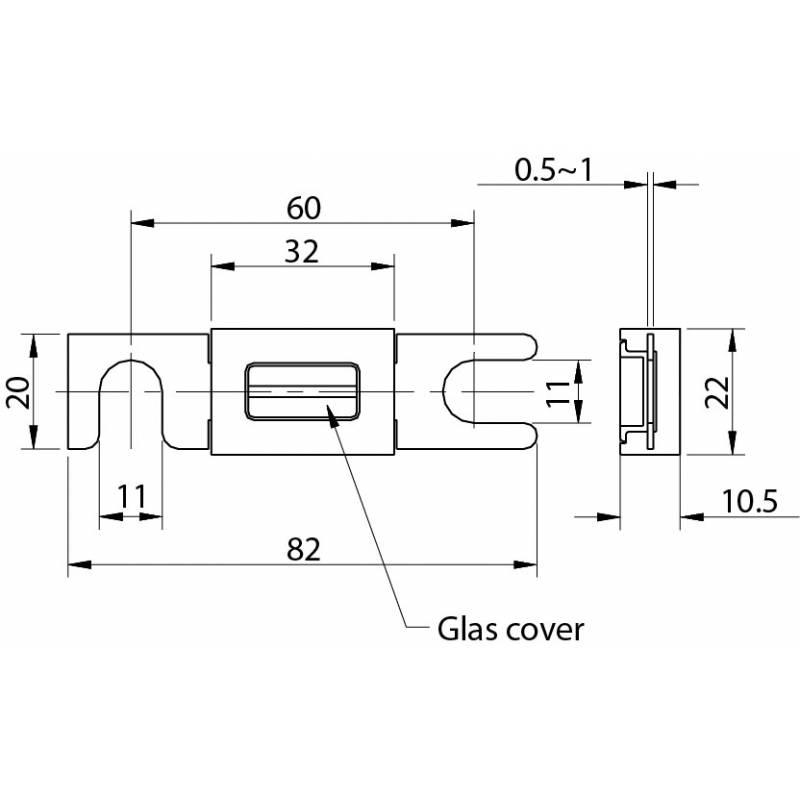 DIN43560 R1025 fuse