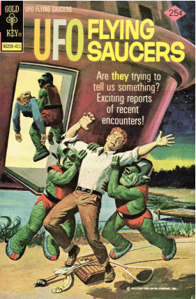 ILLUSTRATION UFO FLYING SAUCERS BD