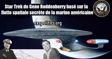 Star Trek de Gene Roddenberry basé sur la flotte spatiale secrète de la marine américaine