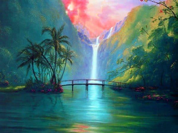 affb5ec0e3b79b0354f4e7cc988ce3e2-waterfall-paintings-nature-wallpaper-600x450-1