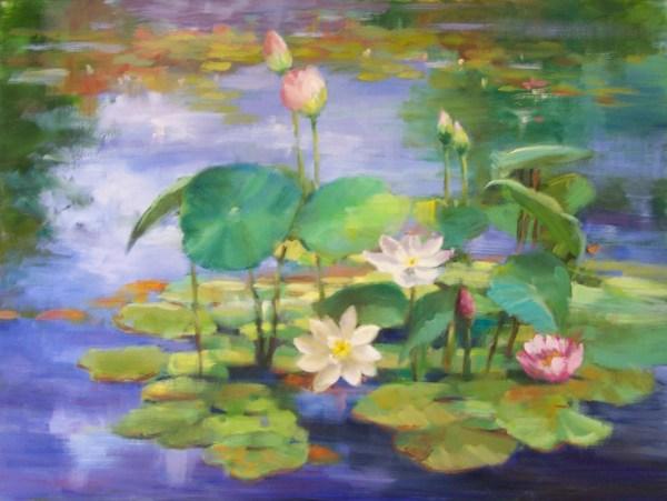 Watercolor Paintings of Lotus