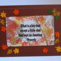 Inspiration Fall Leaves Card--free card making tutorial