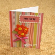 Cheery Orange Flowers Enjoy Your Day Free Card Making Tutorial