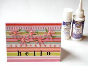 Hello 3-D Flower Card