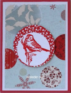 Little Red Bird Holiday Card