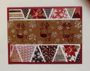 Quick Reindeer Card Design Idea