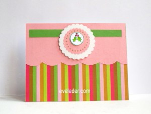 Scalloped Edge Christmas Card--Free Tutorial