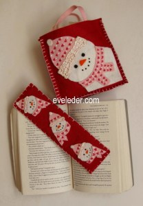 Snowman Bookmark--free felt craft project