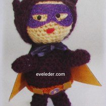 Crochet super hero--this super hero is called Violet Warrior