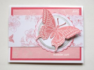 Pink Butterfly Card--free card making tutorial
