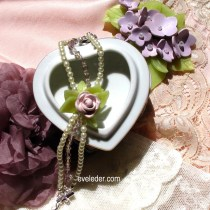 Vintage inspired polymer clay jewelry