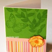 Butterfly Watermark Card
